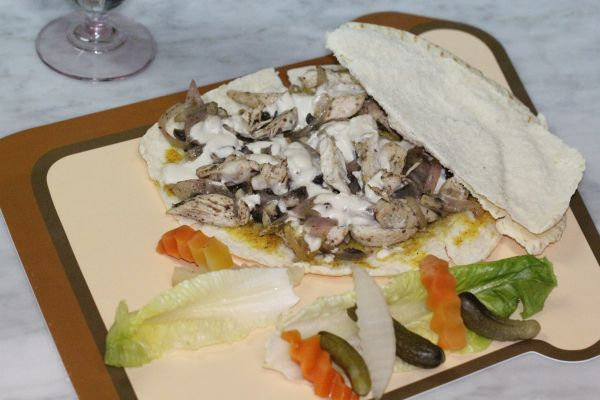 شاورما الدجاج والفطر