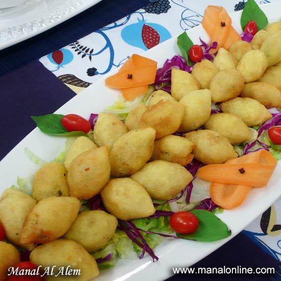 كبة البطاطس بالأرز
