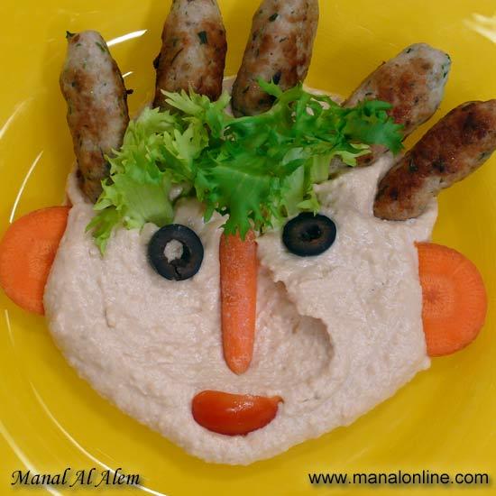 كفتة الدجاج مع حمص بالطحينة