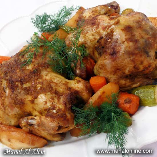 دجاج مشوي بالكيس