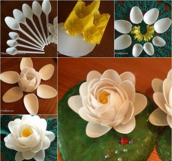 خمس أستخدامات للملاعق البلاستيك لتزيين المنزل-1