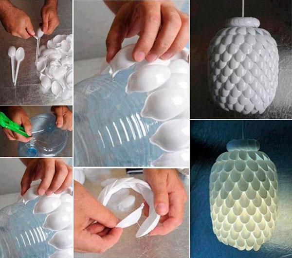 خمس أستخدامات للملاعق البلاستيك لتزيين المنزل-6