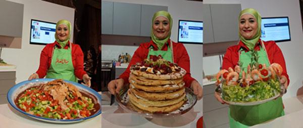 مشاركة السيدة منال العالم فى مهرجان دبى للمأكولات تحت شعار