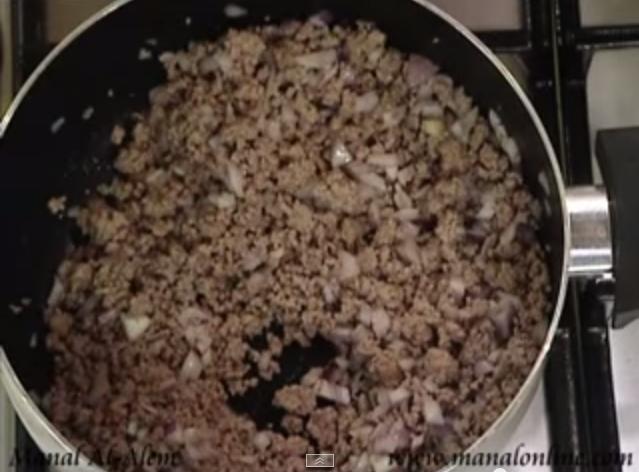 طريقة اللحم المفروم المعصج